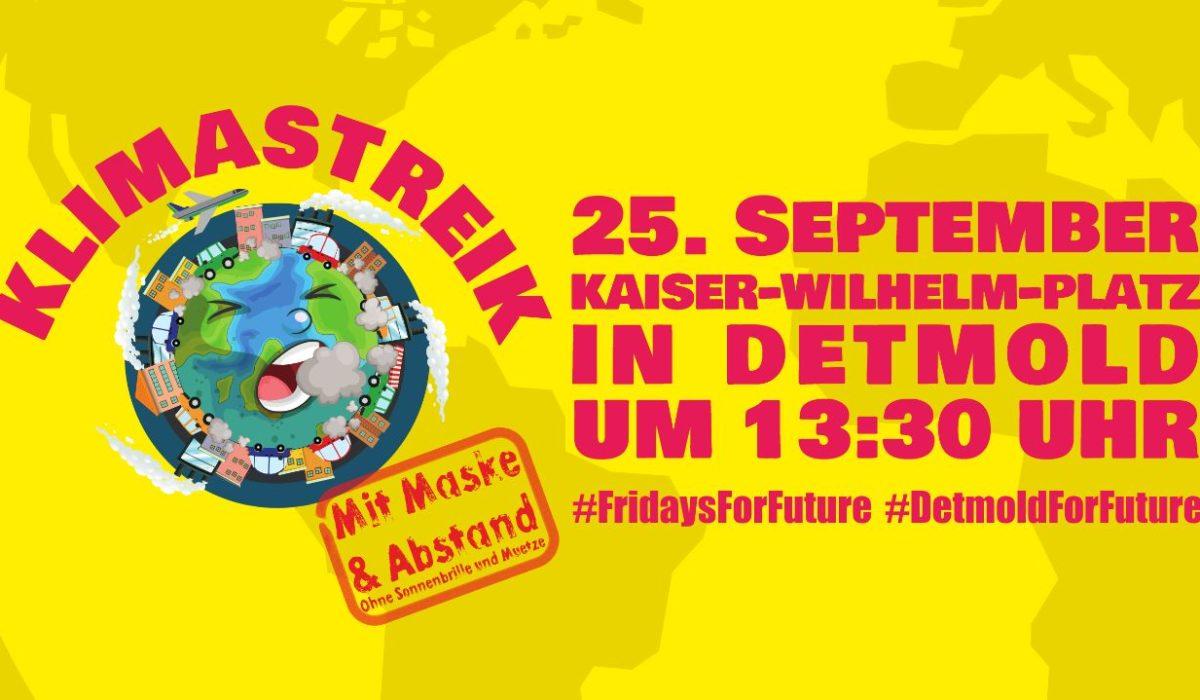 Globaler Klimastreik 25.9. Kaiser-Wilhelm-Platz, Detmold